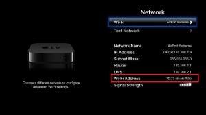 Rocket Net - Apartment WIFI systems - Apple TV MAC_Address Example
